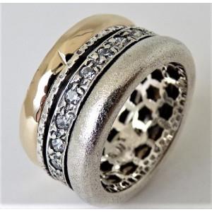 Inel argint si aur 14k -RG10-158