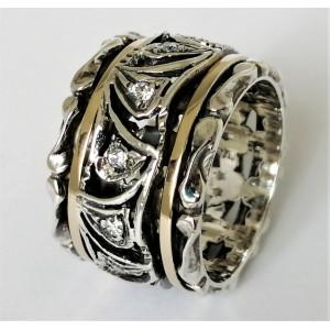 Inel argint si aur 14k -RG10-51