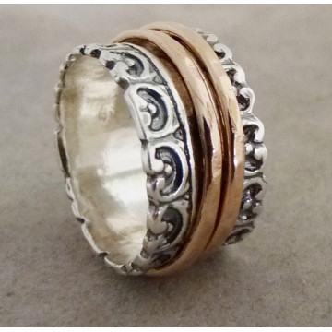 Inel argint si verigi goldfilled-R2643