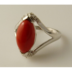 Inel argint VR015575-coral