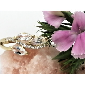 Inel NADIA- argint placat cu aur si cristal -VR012847
