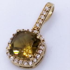 Pandantiv ALEX - argint placat cu aur -VP08175 nano zultanit