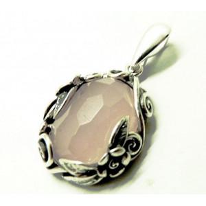 Pandantiv argint N804-cuart roz