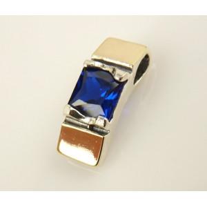 Pandantiv argint si aur 9 k -20063 blue quartz
