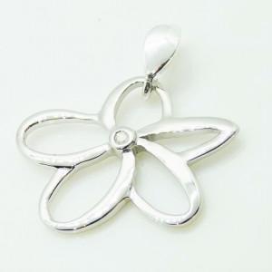 Pandantiv ISABEL-din argint cu diamant alb I3-taietura dubla cod VP031918