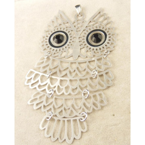 Pandantiv mare din argint Bufnita - CNST0425AGMAX