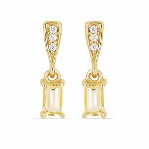 VIGO -cercei argint placat cu aur si citrin-VE015169
