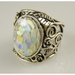 Inel argint -sticla romana -R7962-5