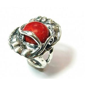 Inel argint -coral-R9638