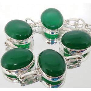 Bratara argint BR40 onix verde