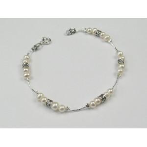 Bratara argint perle -BD148