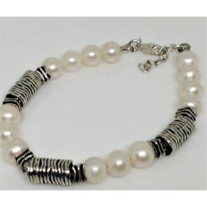 Bratara argint si perle de cultura BD102
