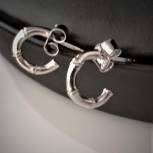 Cercei argint BAMBUS-tip tsemicreola -ORJJ0163RH