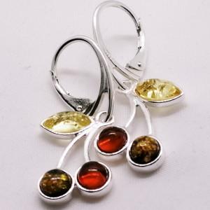 Cercei argint chihlimbar E1119 -1