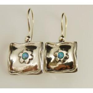 Cercei argint opal E1259D