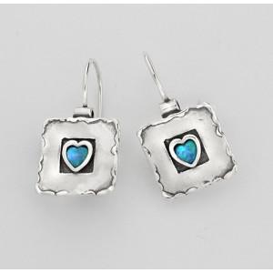 Cercei argint opal E130