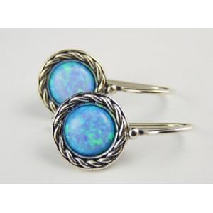 Cercei argint opal E1968
