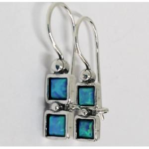 Cercei argint opal E832