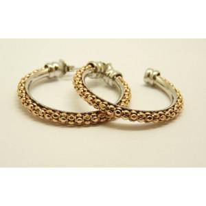 Cercei argint placat cu aur roz- ORSS2834RB2RO