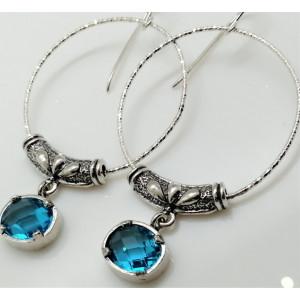 Cercei argint topaz -E3570