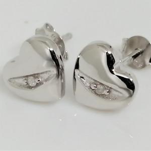 Cercei din argint cu diamant I3-taietura dubla VE031911