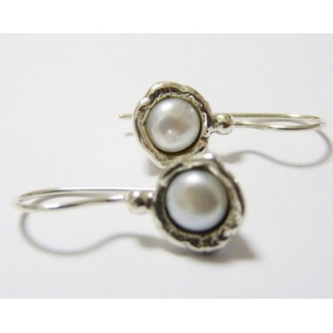 Cercei din argint cu perla -E3110A
