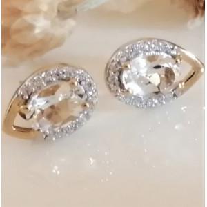 Cercei ELEONORE-argint placat cu aur si zircon VE032670