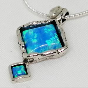 Colier argint opal N3694
