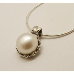 Colier argint perla N3404A