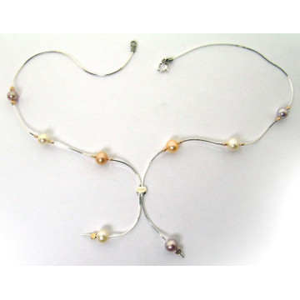 Colier argint ,perle si goldfilled-NP12