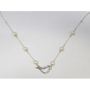 Colier argint si perle N032 -PORUMBEL