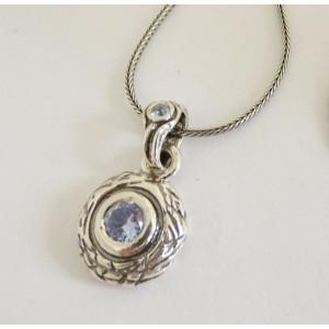 Colier argint Topaz -vintage style N2814