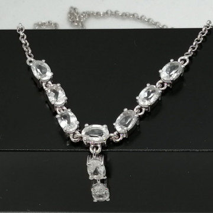 Colier LORI- argint cristal -VNCK015832