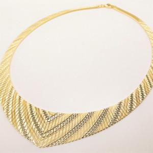 Colier masiv Cleopatra -argint placat cu aur galben- CTOM0155PLV5G