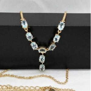 Colier Sandra -argint placat si aur - VNCK015832 topaz