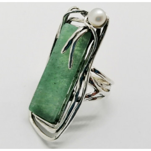 Inel argint aventurin -R5502