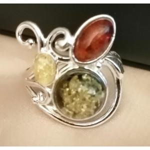 Inel argint -chihlimbar -R584-B