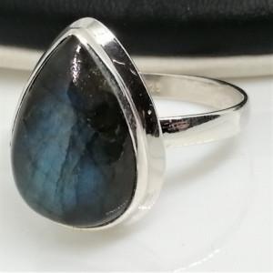 Inel argint cu labradorit- R181