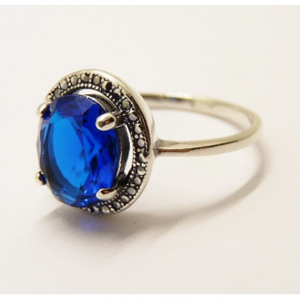 Inel argint delicat blue quartz -R1695