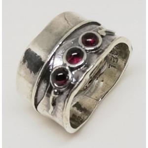 Inel argint granat -R255