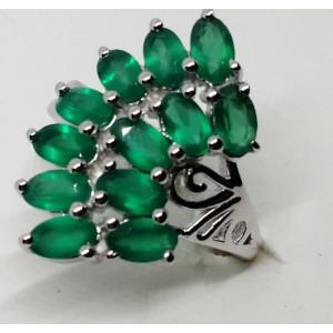 Inel argint onix verde -VR019974