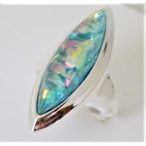 Inel argint opal R3372