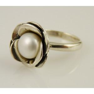 Inel argint perla R10353