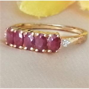 Inel argint placat cu aur galben -VR018333 rubin