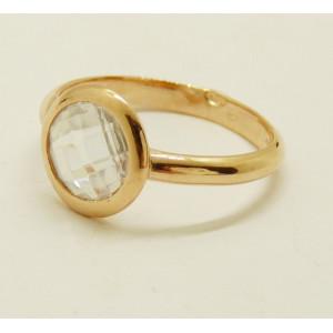 Inel argint placat cu aur roz - ANJJ2141PLROS