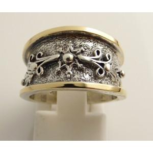 Inel argint si aur 9 k-10014
