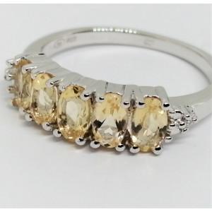 Inel argint -VR018333-citrin
