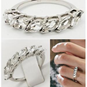 Inel ARIS- argint si cristal -VR033189