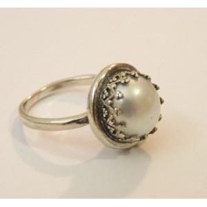 Inel din argint cu perla de cultura- R944