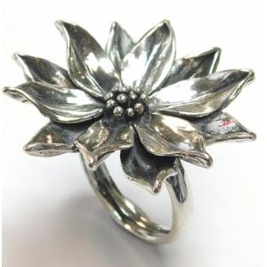 Inel din argint-floare de lotus -R10919